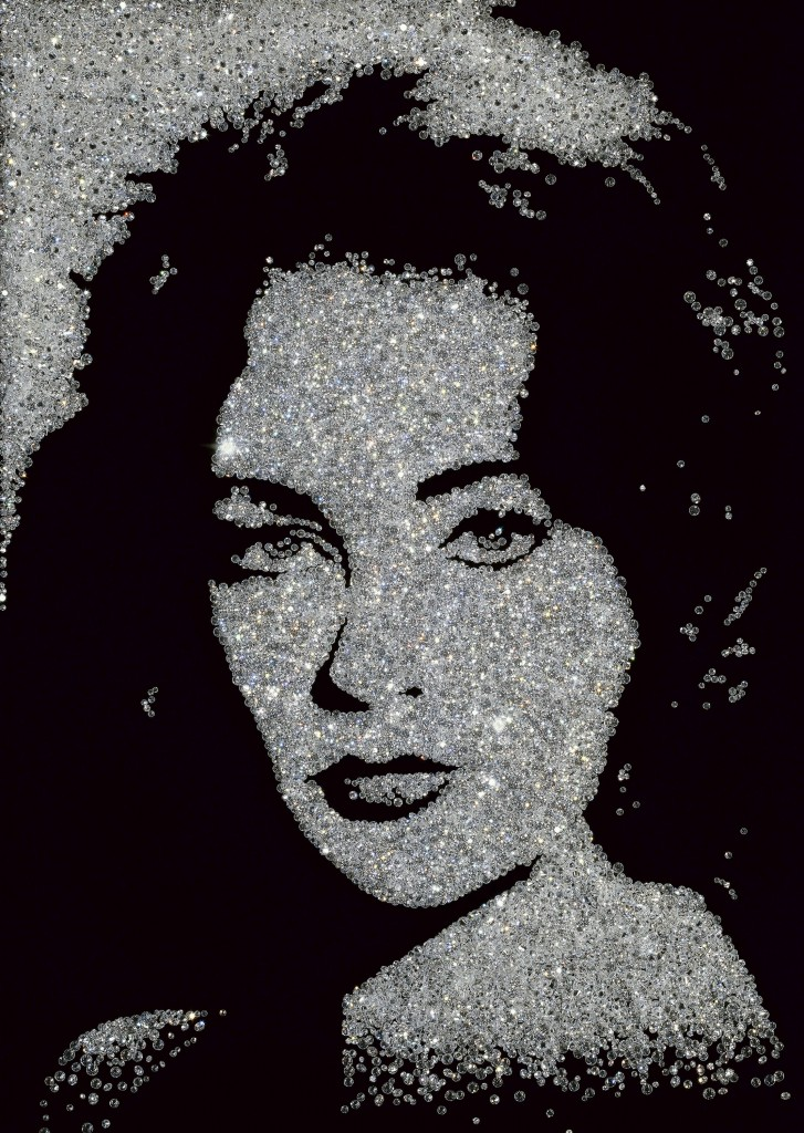 Black-and-white photo of Liz Taylor