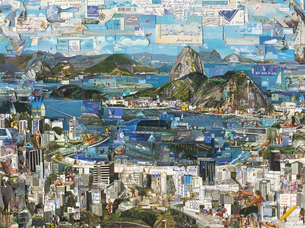Vik Muniz, Rio de Janeiro, Postcards from Nowhere series, 2013, Digital C-print, 180,3 x 240,3cm, Courtesy of the artist and Galeria Nara Roesler