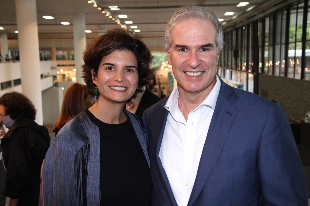 Power art couple: founder director of SP-Arte Fernanda Feitosa and husband Heitor Martins, director of MASP museum, at the 2015 edition in São Paulo