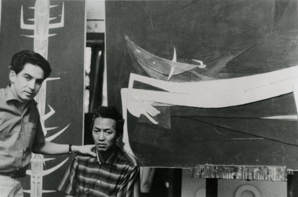 Vigas in Cuban artist Wifredo Lam's studio at Villa d'Alesia, Paris, 1954