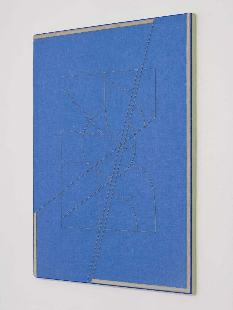 Rodrigo Cass, Ciência Concreta (Concrete Science), 2016, Concrete and Tempera on Linen, Photo Eduardo Ortega, Courtesy Galeria Fortes Vilaça