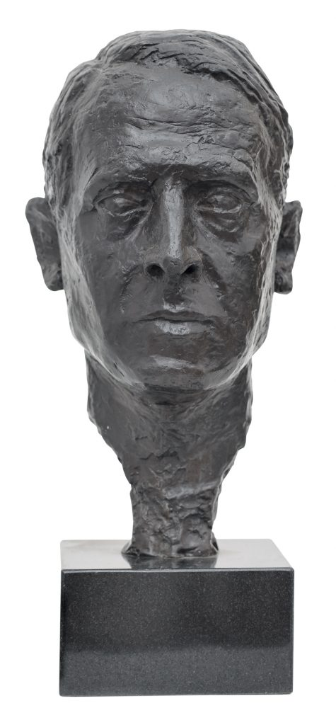 Sculptor De Fiore self-portrait, 1945, Bronze