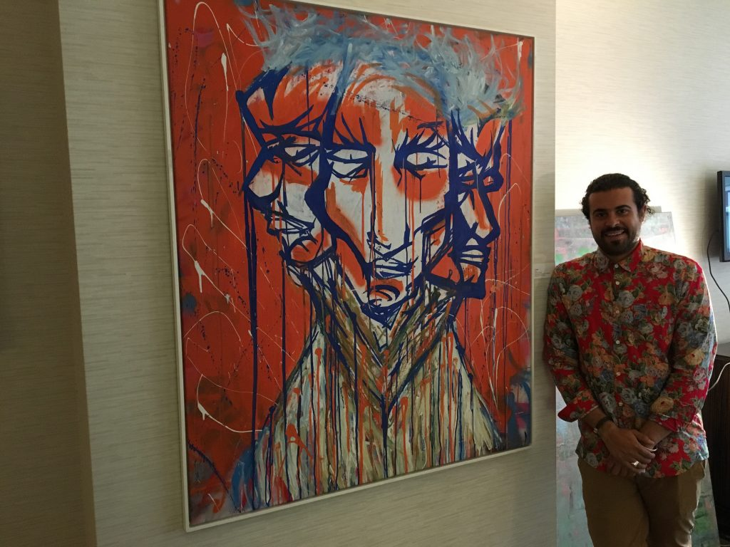 Matheus Goulart at the Startup Art Fair