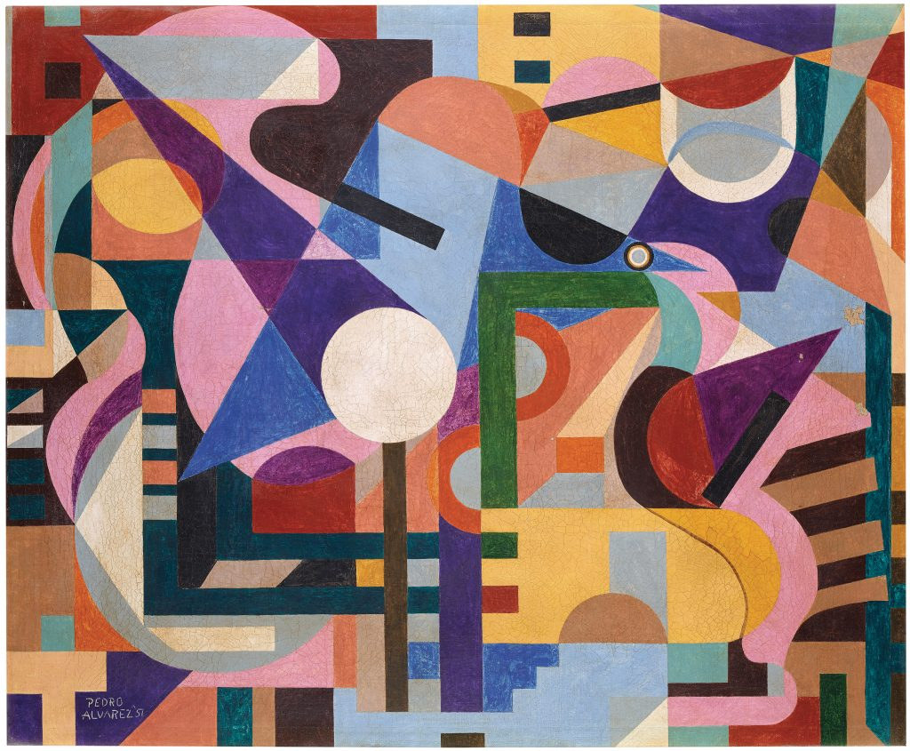 Pedro Álvarez, Untitled, 1957, oil on canvas, 76 x 90 cm