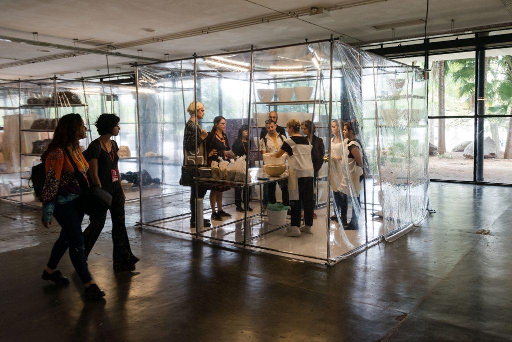Ativação da obra de Nomeda & Gediminas Urbonas na 32a Bienal de São Paulo. 05/09/2016. © Tiago Baccarin / Estúdio Garagem/ Fundação Bienal de São Paulo.