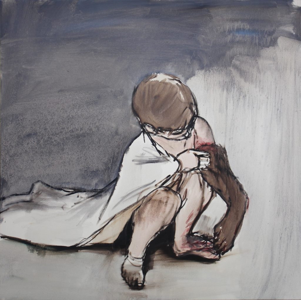 "Eduardo Berliner, ""Capa""(Cape), 2016, oil on canvas, 100 x 100 cm. Courtesy Casa Triangulo"