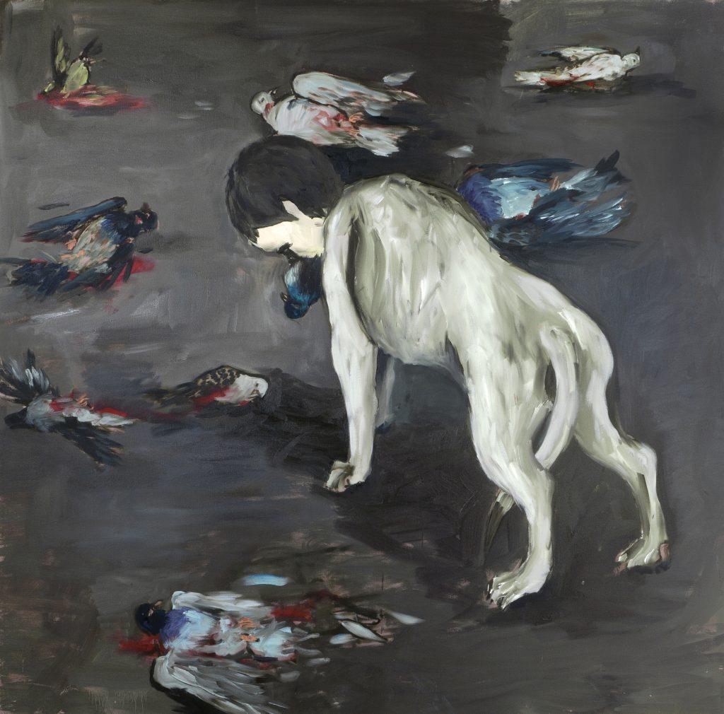 "Eduardo Berliner, ""Passeio"" (A Walk), 2016, oil on canvas, 170 x 170 cm. Courtesy Casa Triangulo"