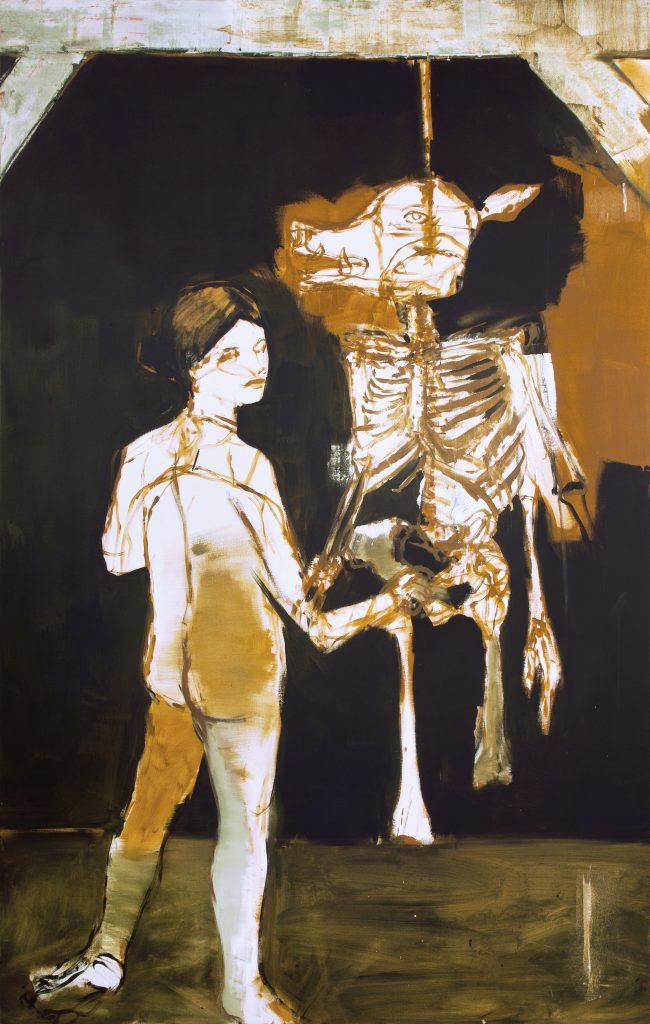 Eduardo Berliner, Untitled, 2016, oil on canvas, 300 x 190 cm. Courtesy Casa Triangulo