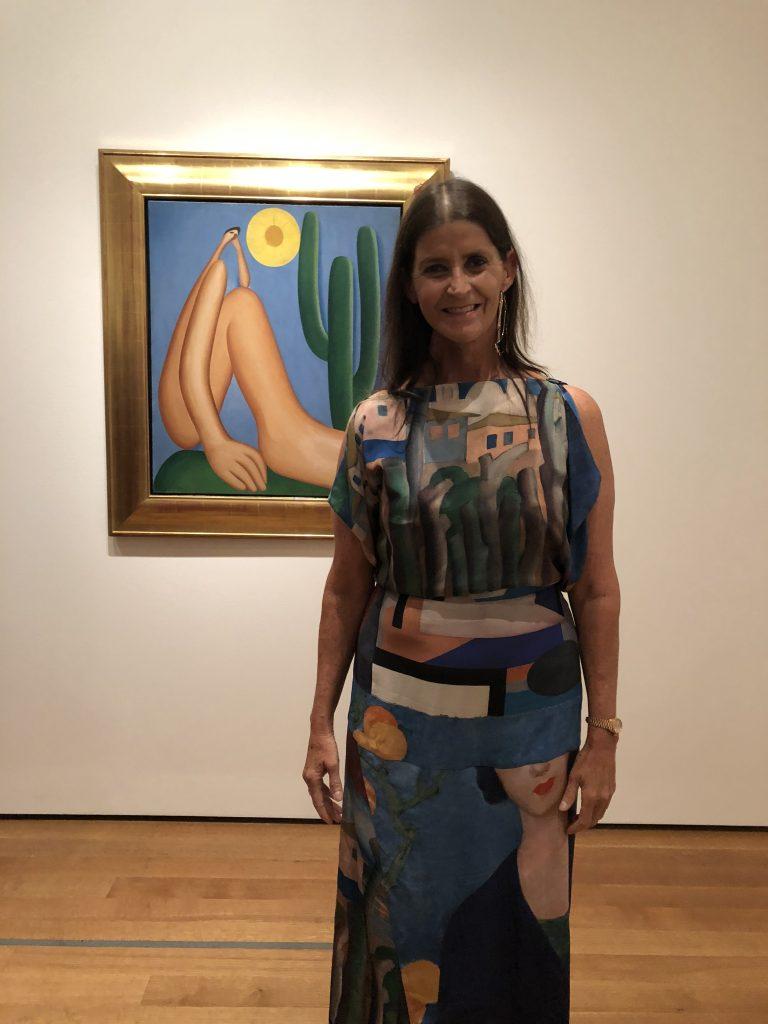 Tarsilinha do Amaral at opening of Tarsila do Amaral exhibition at MoMA, NYC
