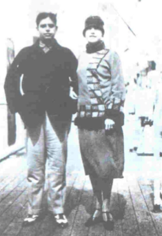Photo of Oswald de Andrade and Tarsila do Amaral in the 1920s