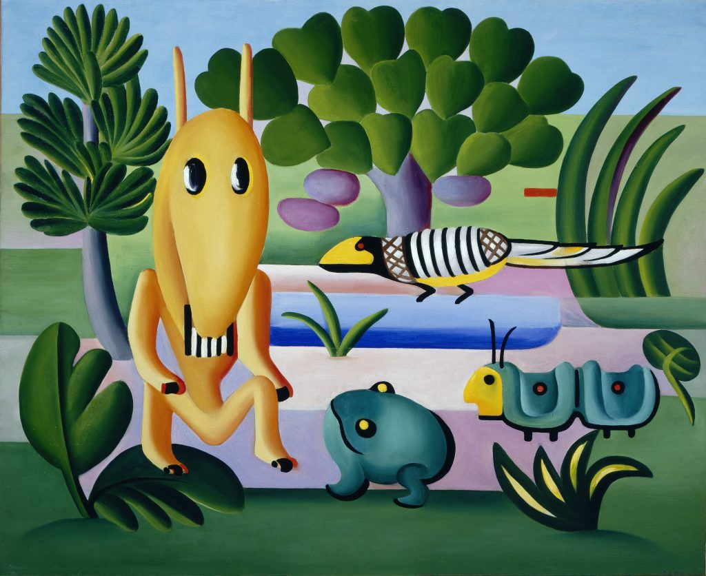 Tarsila do Amaral, A Cuca (The Critter), 1924, oil on canvas, 73 x 100 cm
