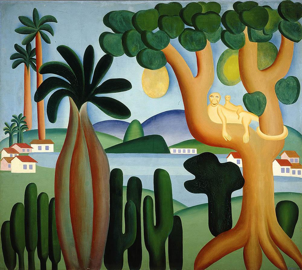 Tarsila do Amaral, Cartão Postal (Postcard), 1929, oil on canvas, 127 x 142 cm