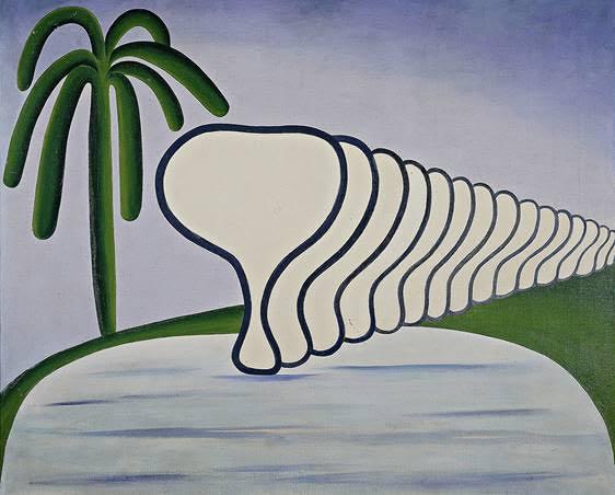 Tarsila do Amaral, O Sono (Sleep), 1928, oil on canvas, 60 x 72 cm