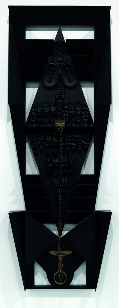Emanoel Araújo, O Navio (The Ship), 2007, polychrome wood and carbon steel