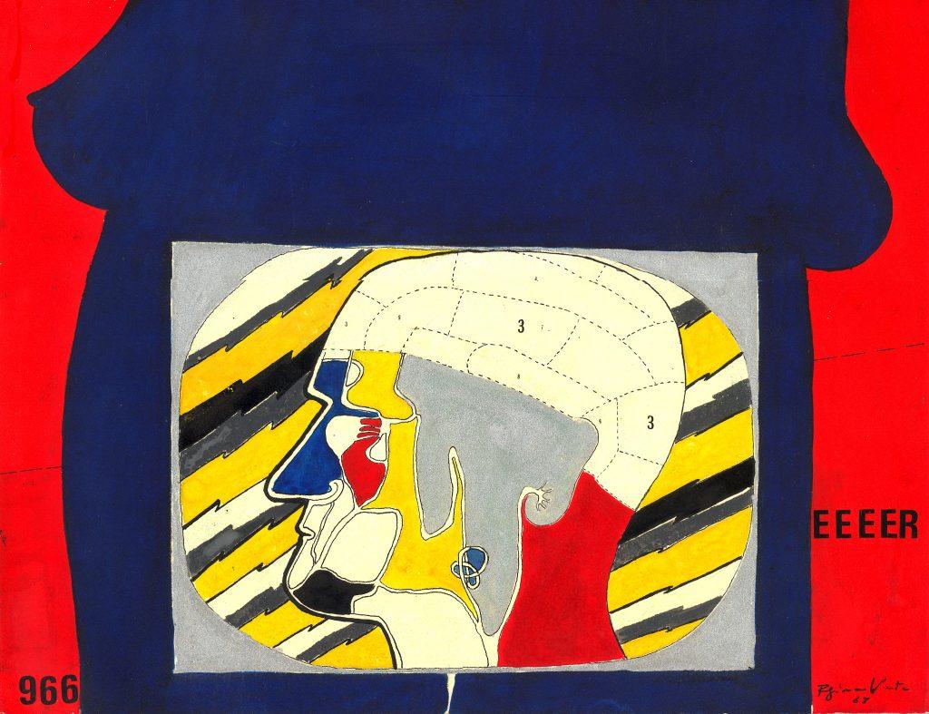 Regina Vater, In the Uterus, 1967, 1967, gouache on paper