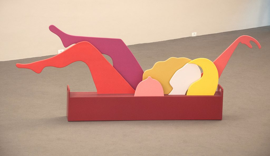 Regina Vater, Mulher mutante (Mutant Woman), 1968, lacquer on MDF, rails and casters