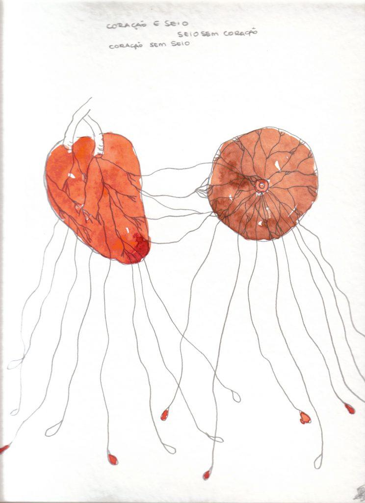 Rosana Paulino, Coração e seio (Heart and Breast) from Wet Nurse series
