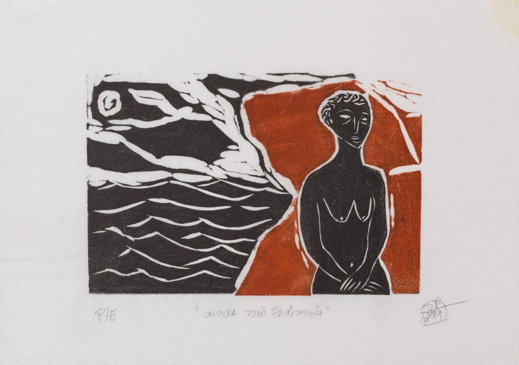 Rosana Paulino, Jonas series, 1999, linoleum block print on paper